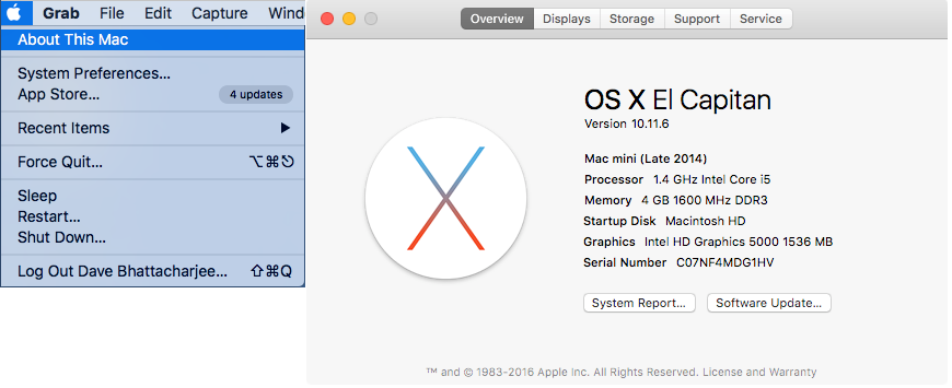 mac serial info